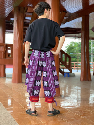 Purple harem pants, Thai tribal style pants