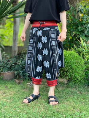 Black ethnic tribal harem pants