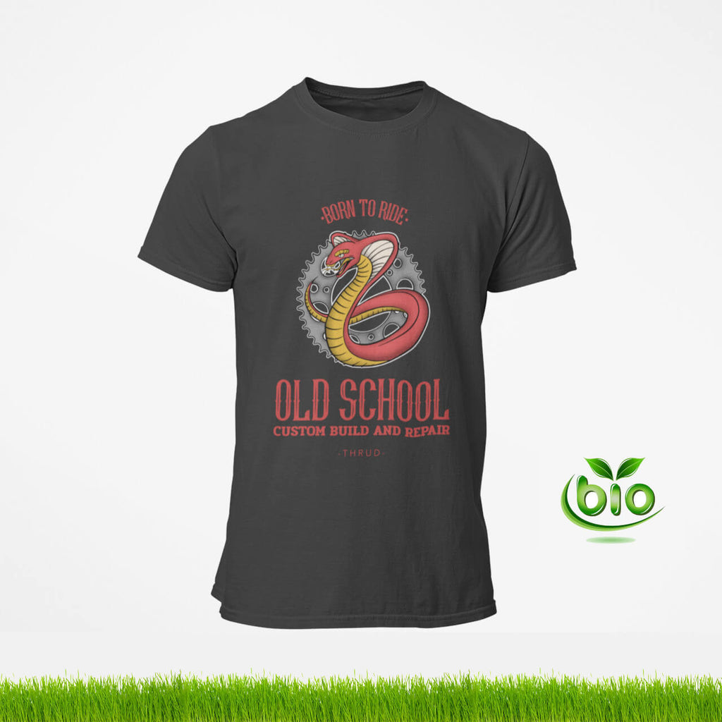 T-shirt motard biker born to ride old school de la marque Thrud