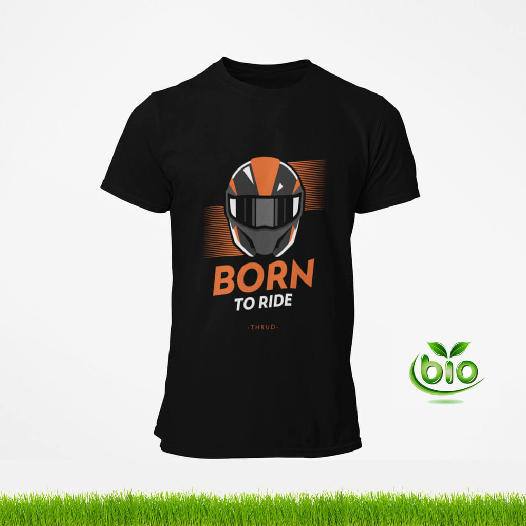 Born to ride t-shirt motard noir de la marque Thrud