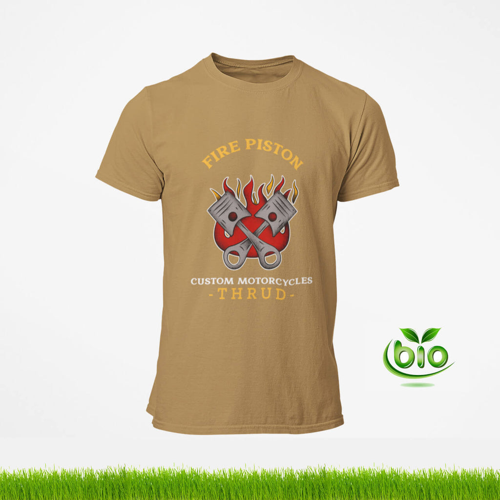 T-Shirt motards marron clair de la marque Thrud