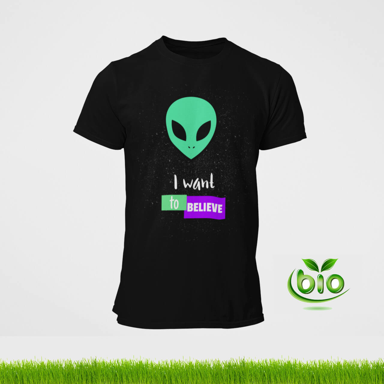 t-shirt noir I want to believe