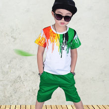 Load image into Gallery viewer, Humor Bear Boys Clothing Set Baby Boy Clothes New Summer Kids Clothing Sets Stripe Colorful T-Shirt + Pants 2Pcs Boys Suit