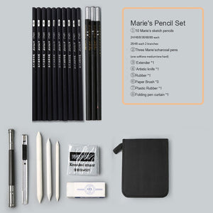 Marie's sketch pencil set sketch pen drawing pencil set beginner student professional full set of sketch pen art supplies