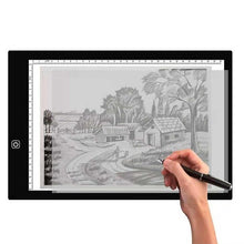 Load image into Gallery viewer, A3/A4/A5 Size Drawing Tablet Led Light Pad Tablet Diamond Painting Eye Protection Bright Copy Board Diamond Embroidery art