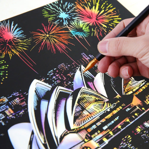 5Pcs Painting Drawing Scratch Arts Set Stick Scraper Pen Tools Creative DIY Necessaries Products New