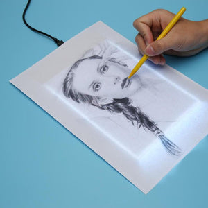 VKTECH A5 Drawing Tablet Digital Graphic Pad USB LED Light Box Tracing Copy Board Electronic Art Graphic Painting Writing Tablet