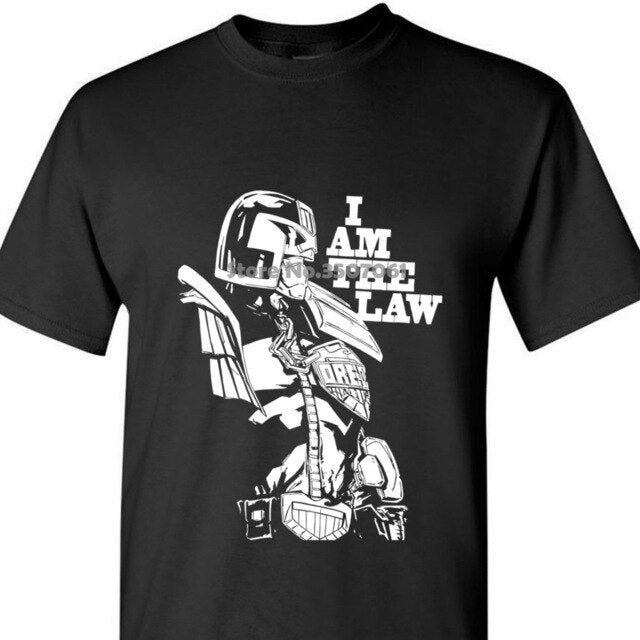 summer winter Fashion Judge Dredd The Law 2000ad Comic Book Graphic Novel Men's Black T Shirthip Hop Casual Clothing Boy tops
