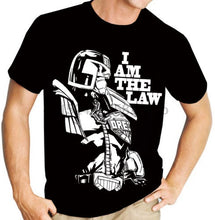 Load image into Gallery viewer, Summer Style Fashion Judge Dredd  The Law (2000Ad) Comic Book Graphic Novel Men'S Black T Shirthip-Hop  Casual Clothing