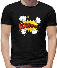 Load image into Gallery viewer, Superhero Kaboom Mens T-Shirt - Comic - Hero - Pop Art - Graphic Novel - Heroes