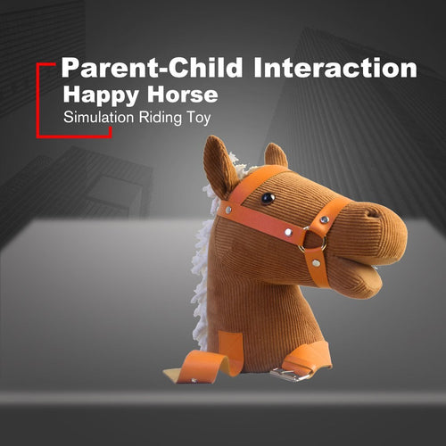 Happy Horse Parent-Child Relationship Interaction Emotional Companionship Bionic Design Sound Simulation Riding Love Kid Toy