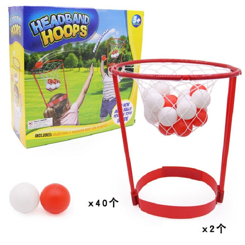 YARD 2pcs Basketball Head Hoop+40pcs Balls Game Shooting Ball Sport Adjustable Head Hoop Toys Develop Child-Parent Relationship