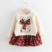 Load image into Gallery viewer, Humor Bear Girls Dress Spring Autumn Flower Princess Dress Brand Girls Clothes Children Clothing Cute Animal Style Girls Dresses
