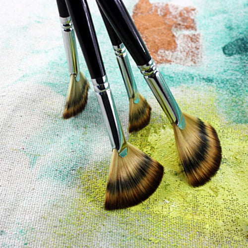 Multifunctional Pen 1PC 6 Sizes Fine Hand Fan Shape Painting Pen Artist Oil Painting Brushes Art For Supplies Stationery
