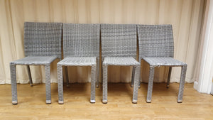 Set of 4 Showpiece Design synthetic rattan chairs