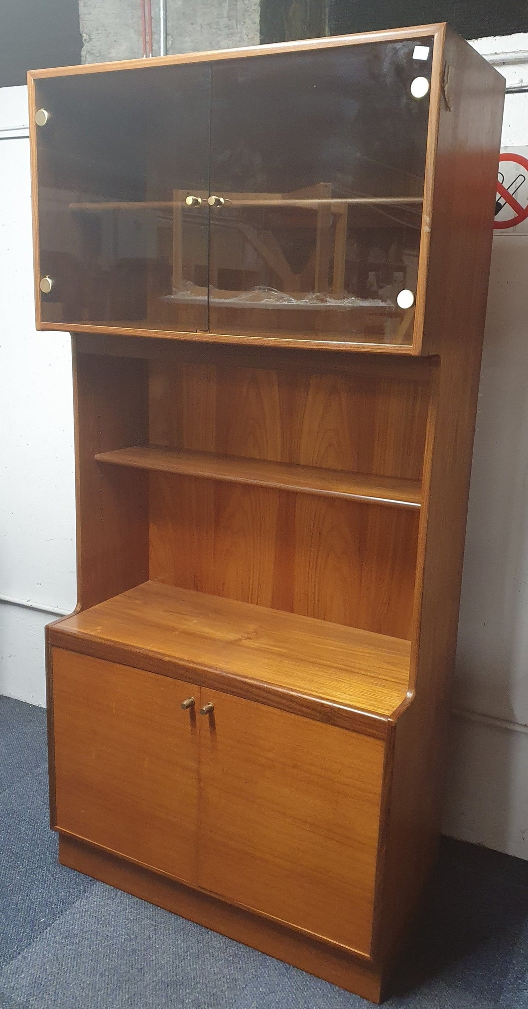 Original Turnidge of London Teak Display Cabinet