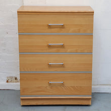 Load image into Gallery viewer, Alstons Cabinets 'Manhattan' 4 Drawer Chest of Drawers