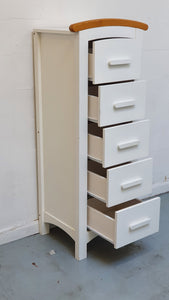Cosatto Hogarth Tall Boy - 5 Drawers, White & Oak