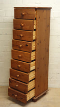 Load image into Gallery viewer, Tall Pine 9 Drawer Chest of Drawers