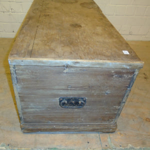 Antique 17th Century Six Plank Coffer - 181372