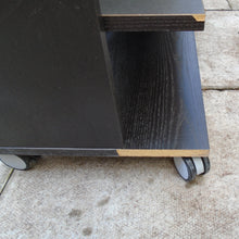 Load image into Gallery viewer, Black TV Stand On Castors - 185547