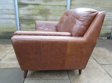 Load image into Gallery viewer, 2 Seater Brown Leather Sofa - 185574