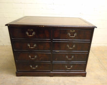 Load image into Gallery viewer, Vintage Antique Leather Top 8 Drawer Filing Cabinet/Desk - 181220-02