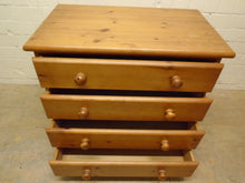 Load image into Gallery viewer, Solid Pine 4 Drawer Chest Of Drawers - 211220-16