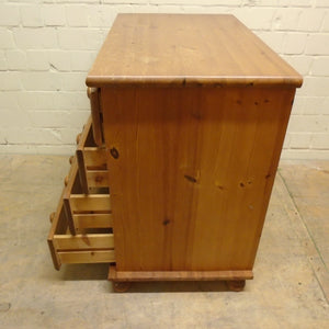 Solid Pine 4 Drawer Chest Of Drawers - 211220-16