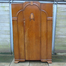 Load image into Gallery viewer, Vintage Art Deco-Style Single Door Wardrobe - 221220-08