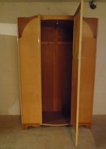Vintage Art Deco Style Single Door Wardrobe (BS 1960) - 221220-03