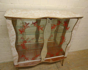 Vintage Retro Mid-Century Glass Display Cabinet - 221220-02