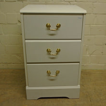 Load image into Gallery viewer, 3 Drawer Bedside Table, White - 185598