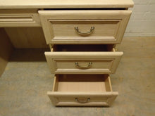 Load image into Gallery viewer, Vintage-Style Kneehole Double Pedestal 6 Drawer Desk - 291220-09