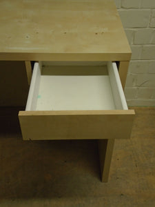 Modern Desk With 1 Drawer, Wooden Finish - 301220-08