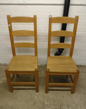Load image into Gallery viewer, Set Of 5 Vintage High Back Wooden Dining/Kitchen Chairs - 185565/185569