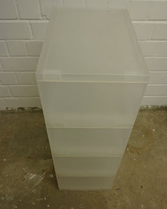 Plastic Shelving Storage Unit, Clear White - 311220-12