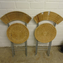 Load image into Gallery viewer, Matching Pair Of Vintage Wicker Folding Chairs - 311220-13/-14