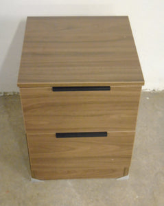 Modern 2 Drawer Bedside Table, Walnut Effect Finish - 070121-02