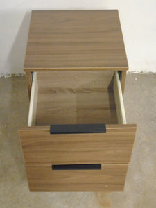 Modern 2 Drawer Bedside Table, Oak Effect Finish - 070121-02