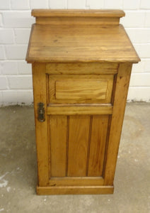 Vintage Solid One Door Bedside Cabinet - 110121-02