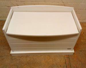 John Lewis White Wood Toy Box/Chest