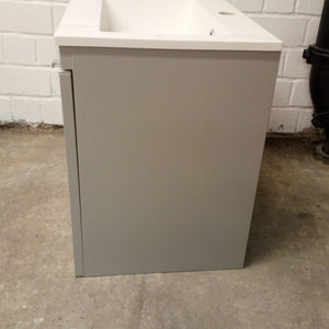 HiB Novum Vanity Unit With Sink & Storage Unit, Matt Light Grey - 301220-14