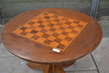 Load image into Gallery viewer, Vintage Solid Wood Round Chess Board Table