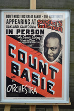 Load image into Gallery viewer, Vintage Count Basie Concert Promo Poster - Framed