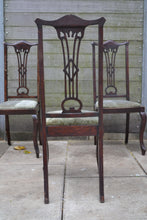 Load image into Gallery viewer, Set of 3 Vintage High Back Upholstered Dining Chairs