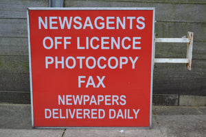 Advertising Outdoor Light Box Newsagents/Off License Sign, Wall Mounted - 121020-05