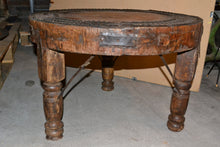 Load image into Gallery viewer, Rustic Heavy Solid Wood Side Table - Round