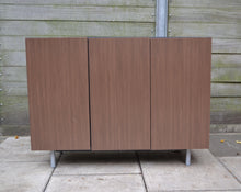 Load image into Gallery viewer, Modern 3-Door Sideboard Cabinet Unit, Walnut Effect Finish