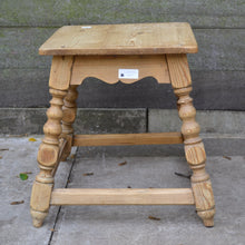Load image into Gallery viewer, Small Pine Kitchen Stool